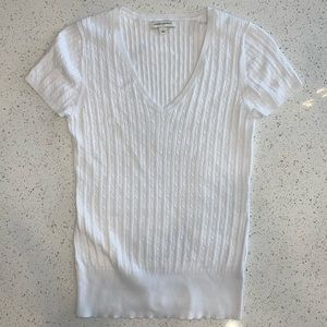 Banana Republic Short Sleeved Cable Knit Sweater